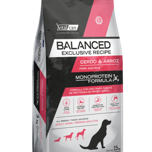 VITAL CAN BALANCED EXCLUSIVE RECIPE CERDO X 15 KG